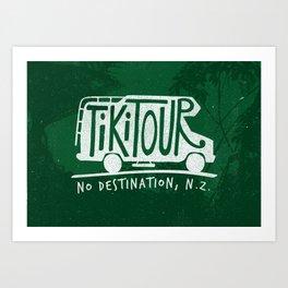 Tiki Tour Art Print