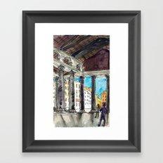 deep shadows above Framed Art Print