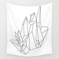 crystal Wall Tapestries featuring Crystal by TrueNoire