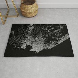 Montevideo map Uruguay Rug