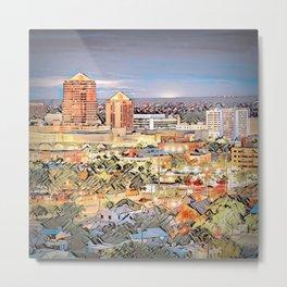 Downtown Albuquerque Cityscape Metal Print