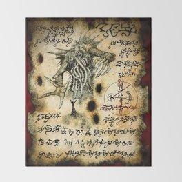 Cthulhu Rises Throw Blanket