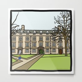 Cambridge struggles: Christ's College Metal Print