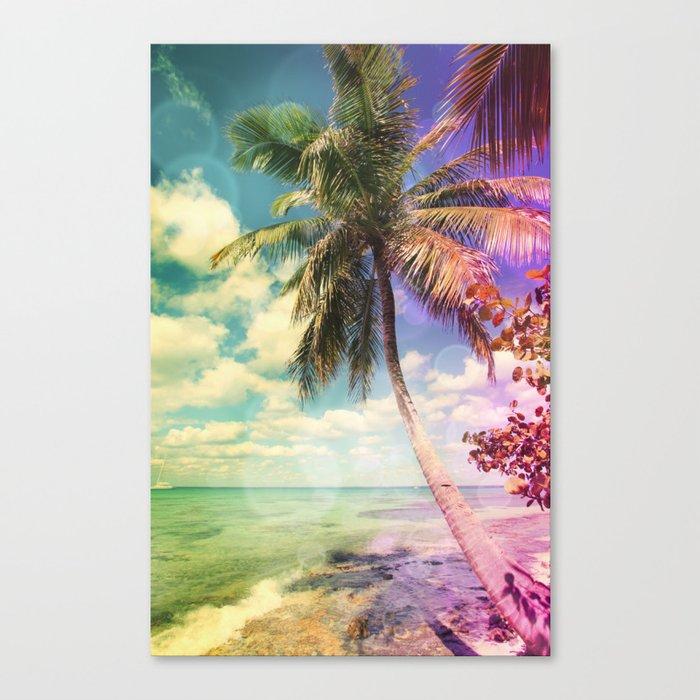 Prismatic Palm Canvas Print