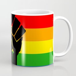 LGBT Pride Flag More Colors Raised Fist (More Pride) Coffee Mug
