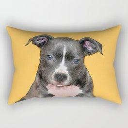 Pitbull puppy Rectangular Pillow