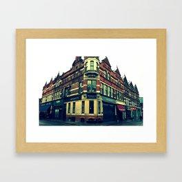 Quiet England Street Framed Art Print