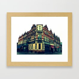 Quiet England Street Framed Art Print