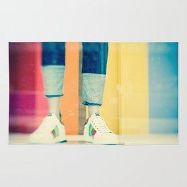 City Shoes Mannequin Photo Rug