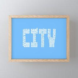 Manchester City 2019 - 2020 Framed Mini Art Print