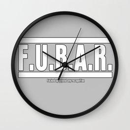 FUBAR Wall Clock