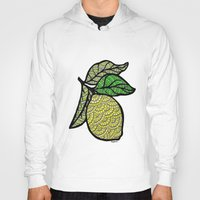 lemon Hoodies featuring Lemon  by Kris LeGates