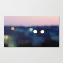 Blurred Lights Canvas Print