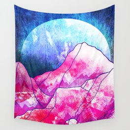 The blue planet rises Wall Tapestry