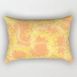 Spring pastels gently orange and yellow circles and ellipses with the image of abstract flowers. Rectangular Pillow