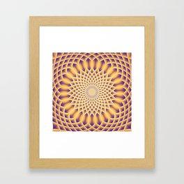 LOTUS FLOWER MANDALA salmon violet Framed Art Print