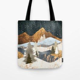 Winter Stars Tote Bag