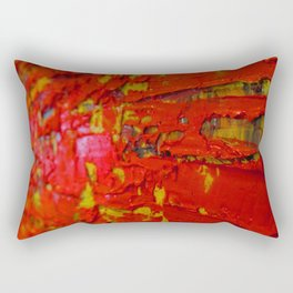 Up Close & Personal with Red Townscape II, #2 Rectangular Pillow