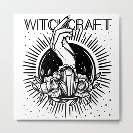 witchcraft. hand and magic crystal Metal Print