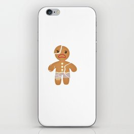 Funny Gingerbread I Hate Christmas iPhone Skin