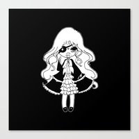 vampire Canvas Prints featuring ▴ vampire ▴ by PIXIE ❤︎ PUNK