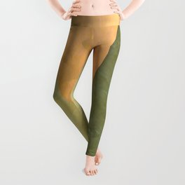 Golden Triangle With Green and Cream Leggings