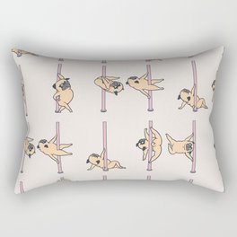 Pugs Pole Dancing Club Rectangular Pillow
