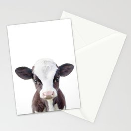 Baby Cow Portrait Stationery Cards