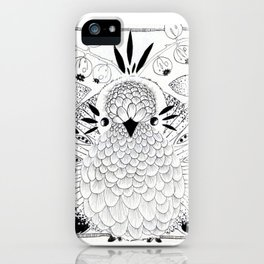 Mama Bird with eggs iPhone Case