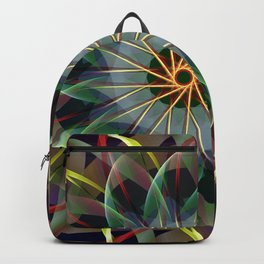 Perfectly swirling ribbons, fractal abstract Backpack