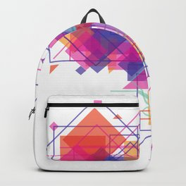A triangle, square or both Backpack