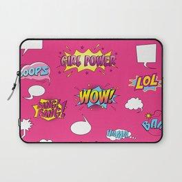 Girly Comics Pattern Laptop Sleeve