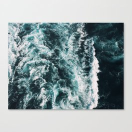 Green Seas, Yes Please Canvas Print