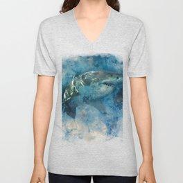 Deep Blue Unisex V-Neck