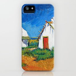 Three White Cottages In Saintes-maries - Digital Remastered Edition iPhone Case