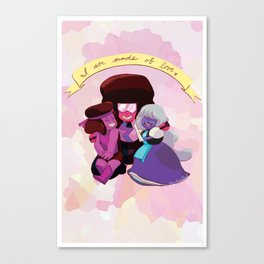 I Am Made of Love - Garnet Print Canvas Print