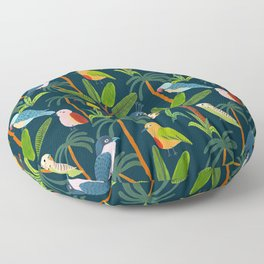 Jungle Birds Floor Pillow