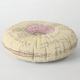 Planetarum Cursus Et Altitudines Ob Oculos Ponens Floor Pillow