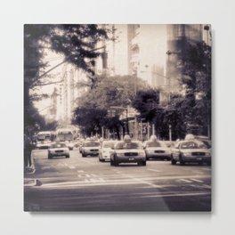 NYC CABS Metal Print