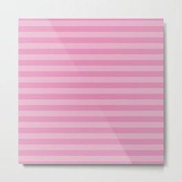 Stripes (Parallel Lines, Striped Pattern) - Pink Metal Print