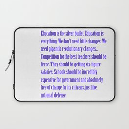 Education is the Silver Bullet Laptop Sleeve