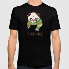 Hug a Pug Mens Fitted Tee Black MEDIUM