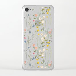 Midsummer Flowers Clear iPhone Case