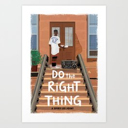 Do the Right Thing alternate movie poster Art Print