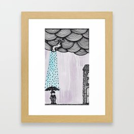 A Drop Of Rain Framed Art Print