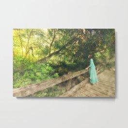 Rainforest Bridge Metal Print