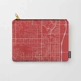 Scottsdale Map, USA - Red Carry-All Pouch