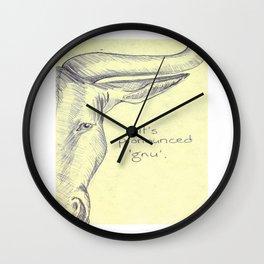 Pronunciation Gnu Wall Clock