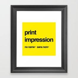 No Name/Sans Nom Framed Art Print