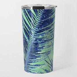 Tropical Palm Blue Travel Mug